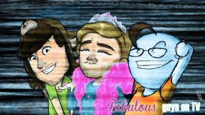 Fabulous guys on TV! by ScribbleNetty