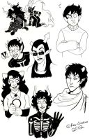 Homestuck Sketch Dump 01 by Res-Gestae