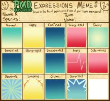 PMD-Explorers Expressions Meme Template by Galactic-Rainbow