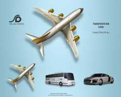 transportation icons by LeMex
