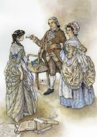 Lizzy and Mr and Mrs Bennet by Himmapaan