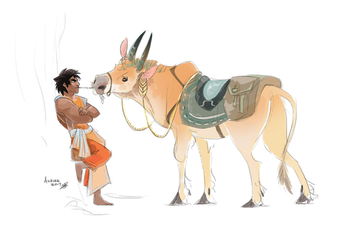 Ridin' Cow by GreekCeltic