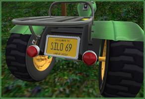 Ain't No Fucken Tractor plate by truemouse