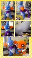 Lilith the Mudkip Plush by HERthatDRAWS