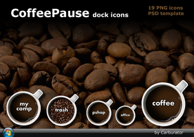 CoffeePause dock icons by Carburator