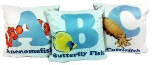 Cushions - Sea Creature Alphabet by RSImpey