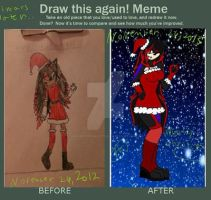 Then and Now~ by DarknessRosalettdoom