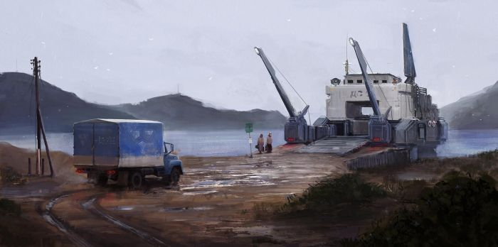 The Truck And The Ferry by MacRebisz