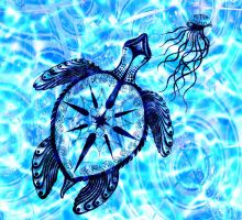 Sea Turtle Compass by SwallowTatgirl