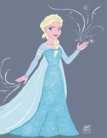 Elsa from Frozen (another fanart) by jmamante02