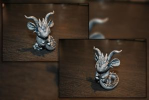 Silver the Baby Dragon by KirstenBerryCrafts