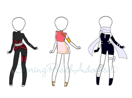 Naruto Outfit Adopts 2 (CLOSED) by SpringPeachAdopts