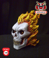 1.6 Head Sculpture ghostrider3 by wongjoe82