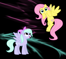 Fluttershy And Flitter by TheNegaverser
