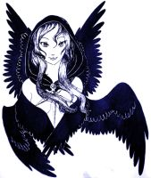 Black-Winged Seraph by StarRaven