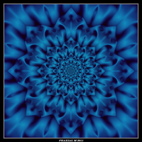 Blue Glyph Flower by fraxialmadness3