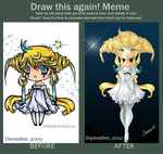 Draw it Again-- Jirachi Gijinka by Ornithogale