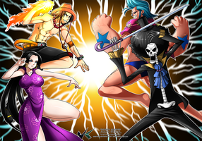 Commission : One Piece Battle Royal by jadenkaiba
