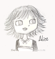 Twilight Alice Cullen Sketch by Karannah