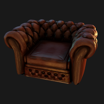 Detective Chair textured by Ramdabam