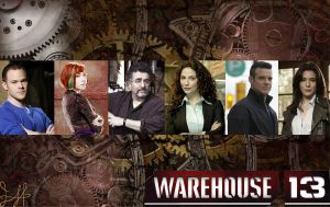 Warehouse 13 Bacground with HG and Jinksy! by MiniReyes