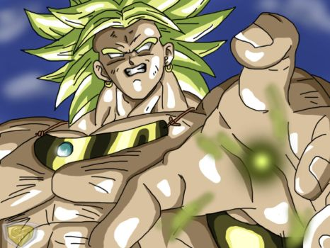 Broly coloring Q by ShynTheTruth