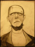 my Frankenstein's monster by DracoDarkblade