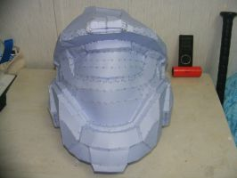 75 percent done wit the Helmet by Gundamluver