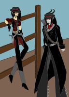 Alduina Outlaw Duo (AU) by dragongirl117