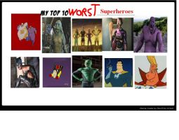 K-dog0202's Top 10 Worst Superheroes by K-dog0202