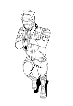 Soldier 76 Lineart by Explodering