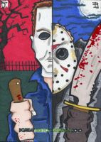 Michael Myers and Jason by 10th-letter