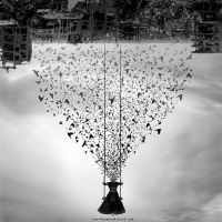 swinging upside down the pale city by MahmoudElkourd