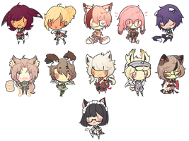 Dollie Chibi Batch 4 by toastilie