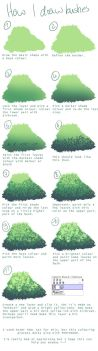 How I draw bushes by the-searching-one