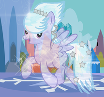 Cloudchaser as a Crystal Pony by Skittles91k