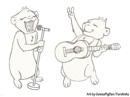 Guinea Pigs Rocking Out! (WIP) by GuineaPigDan