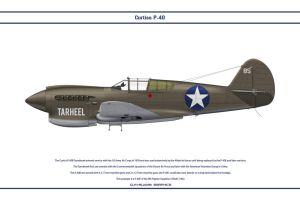 P-40E USA 9th FS 1 by WS-Clave