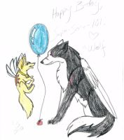 :Happy Birthday, Kassi: by LupusSilvae