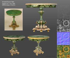 Emerald Round Table Model by GemmaSuen