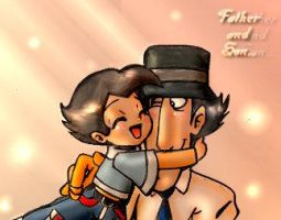 OLD ART - Father and Son - Gadget and Akio by GadgetMonster
