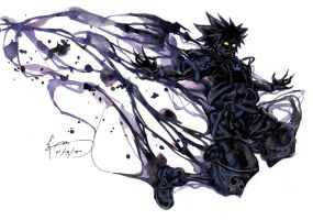 Kingdom Hearts 2 - Anti Sora Form by Nick-Ian