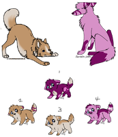 Wolf Breedings litter 4of5 by AerithsAdopts