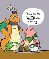 Team Gluttony March task - Helping in the Kitchen by cavemonster