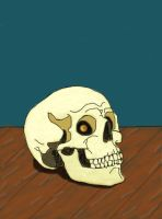Skulls shouldn't be able to smile. by MacLordy