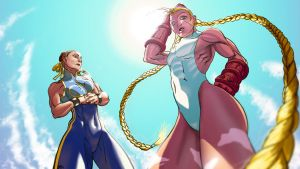 Cammy and Chun Li Tag Team by mehdianim