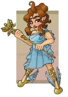 Althea as Hermes by Faeriedreamer