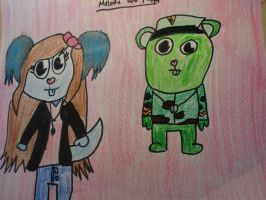 Melody and Flippy :3 by MewMewMinto1123
