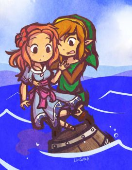 AT: Marin and Link by Linkerbell