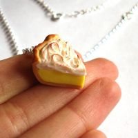Lemon Meringue Pie Slice Charm by FatallyFeminine